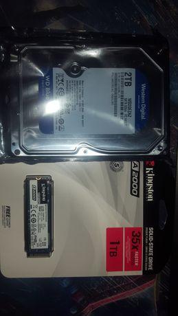 Продам SSD и HDD диски на 1 и 2 Tb