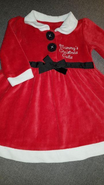 Платье Санта 3-6 мес., снегурочка, карнавальные костюмы
