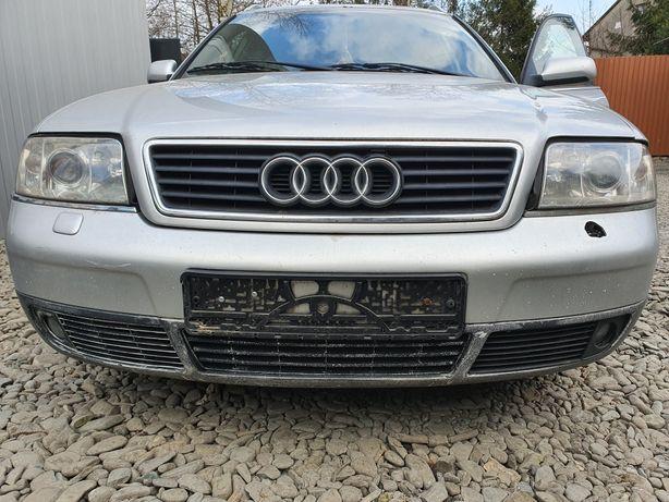 Audi A6 C5 LY7W Przód Kompletny Maska Zderzak Lampy Pas Chłodnice Błot