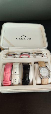 Relógio Eletta com braceletes e aros