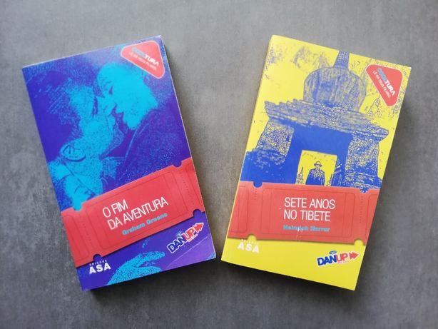 """Conjuntos de Livros """"Sete anos no Tibete"""" e """"O fim da aventura"""""""