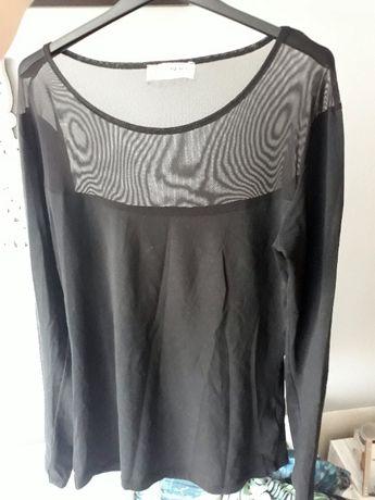 czarna bluzka z siateczką, przezroczysta góra Rue Paris, Butik L