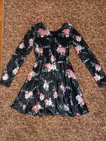 Плаття дівоче велюрове