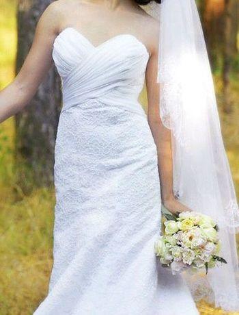 Свадебное платье силуэтное