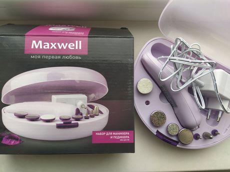 Маникюрный набор Maxwell набор для маникюра и педикюра насадки