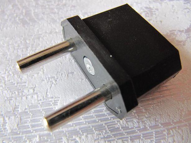 Сетевой адаптер переходник вилка с европейской или USA на обычную