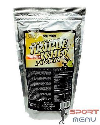 Протеин Triple Whey Protein 908 g. Max Muscle (креатин,бца,гейнер).