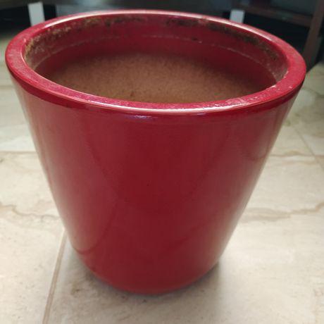 Ceramiczna duża i mała donica