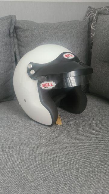 Kask wyścigowy BELL otwarty MAG-1, FIA8859, biały, rozmiar SML (57-58)