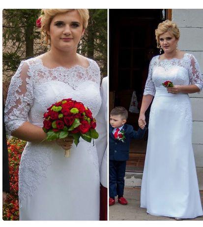 Suknia Ślubna koronka prosta