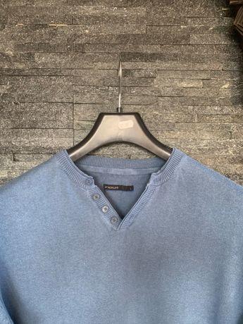 r. L / IRIDIUM niebieski letni sweter sweterek