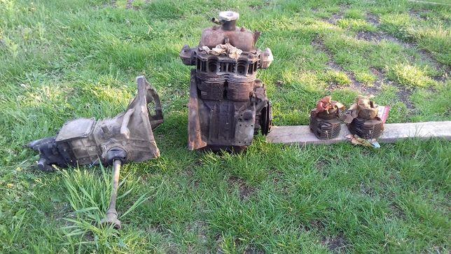 Silnik 600 cm3 + skrzynia + zestaw naprawczy Fiat 126 maluch