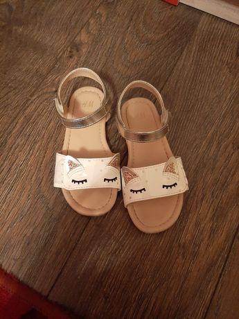 Sandałki H&M złote 27