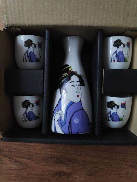 Komplet czarek do sake japoński