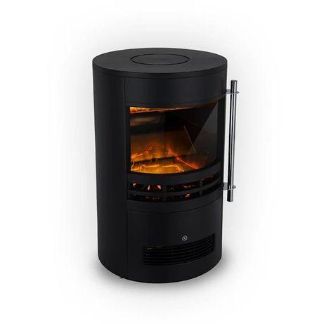 Brixen Kominek elektryczny 900/1800 W InstaFire termostat kolor czarny
