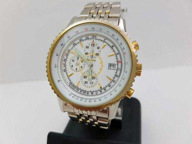 Часы Breitling, хронограф, кварц, механизм Miyota, Япония.
