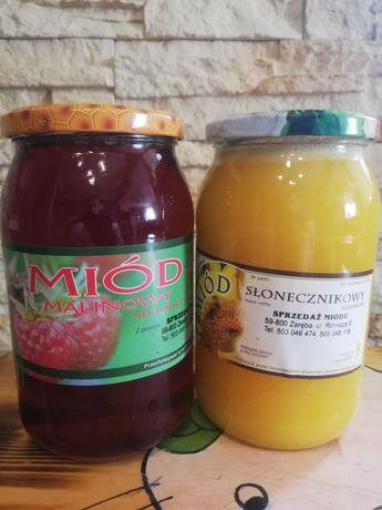 Miód malinowy i słonecznikowy