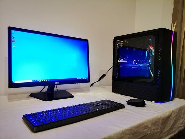 PC Gaming Ryzen 5 2600x   8Gb DDR4   SSD   GTX C/ Garantia