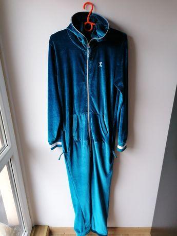 Onepiece welurowy kombinezon unisex piżama, strój