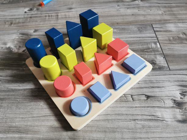 Nowe zabawki układanka figury geometryczne pomoce
