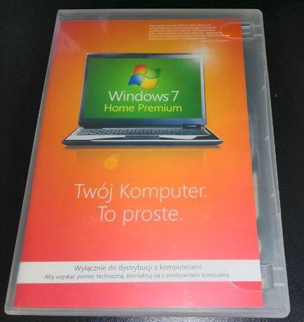 Oryginalny Windows 7 Home Premium 64bit + Płyta, pudełko, klucz licenc