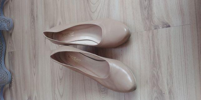 """Skórzane szpilki czółenka 41 buty """"Wielbut"""""""