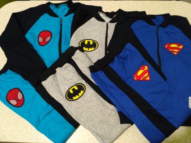 Спортивный костюм Спайдермен, Бэтмен, Супермен р.98-122
