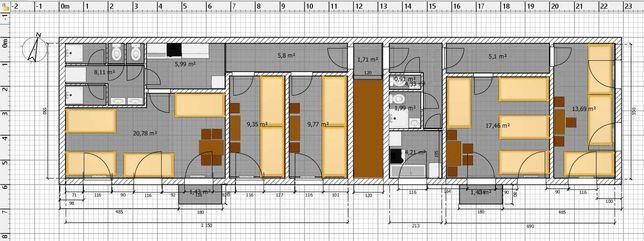 Kwatery pracownicze - piętro domu
