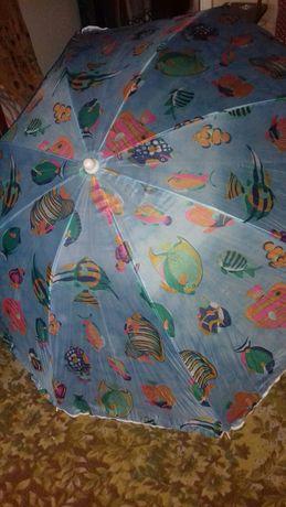зонтик пляжный новый легкий