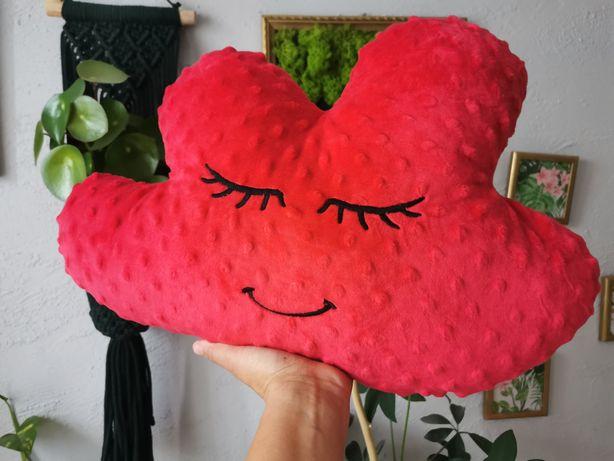 Poduszka czerwona śpiąca chmurka Handmade by Oliminelli