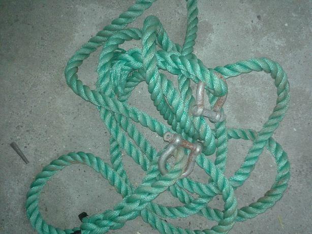 Corda Nylon Reboque 6 metros Verde