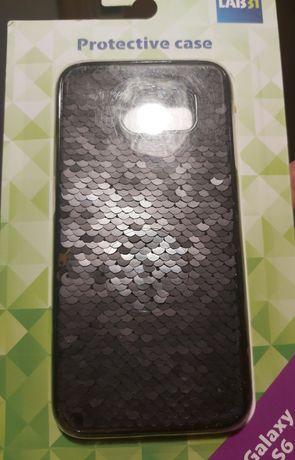Samsung Galaxy S6 czarne cekiny etui/case/plecki