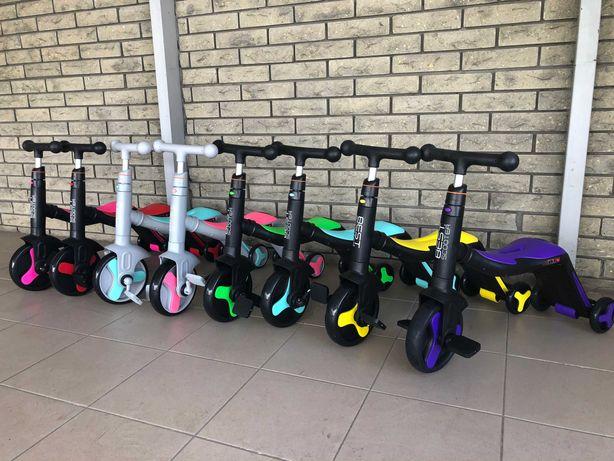 Велосипед Самокат Беговел Велобег 3в1 Велосамокат трансформер 8цветов