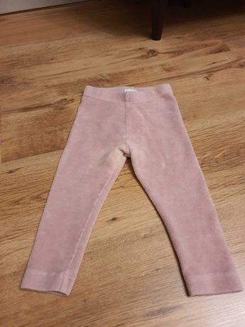 Sztruksowe spodnie rozm. 80 kappahl