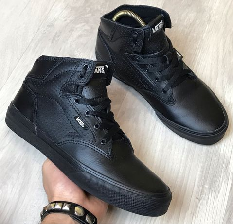 Кеды высокие •VANS• (38 р.) Black Leather Converse Lee