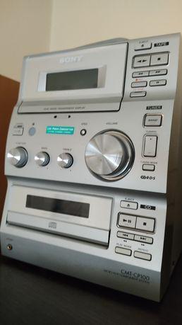 Mini wieża / wieża srebrna Sony radio CD i pilot