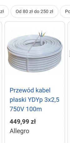 Kabel przewód 3 żyłowy  Izoplast  wataszklana kontakty I inne