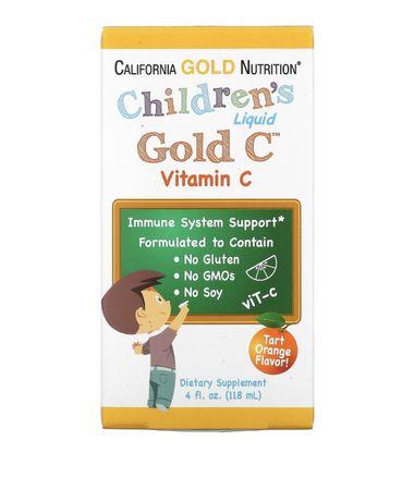Витамин с детский vitamin c ц california gold iherb