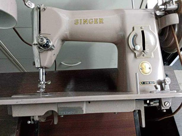 Maszyna do szycia Singer 215G z papierami