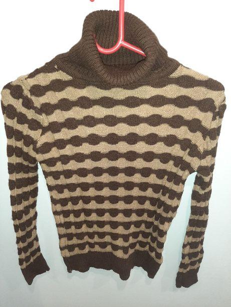 Sweter/ golf ciepły NOWY L