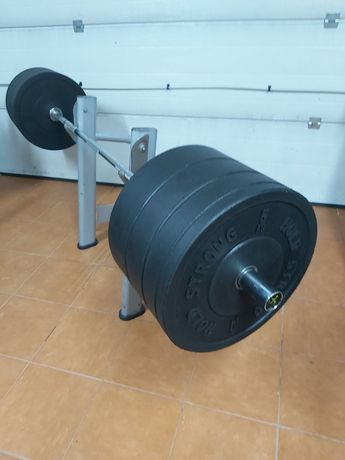 Zestaw bumperow 100 kg. Sztanga 220 cm.