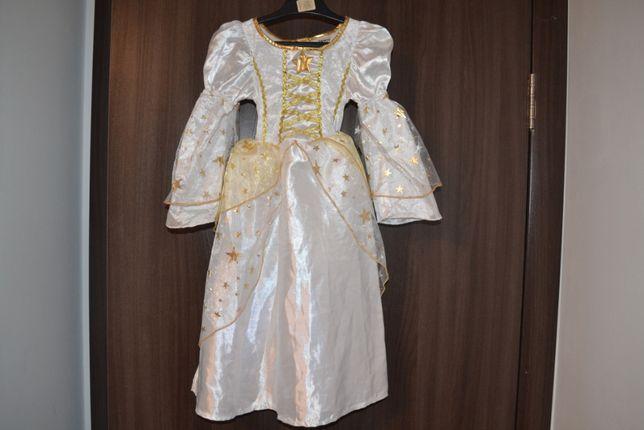 Красивое нарядное карнавальное платье+повязка на голову.