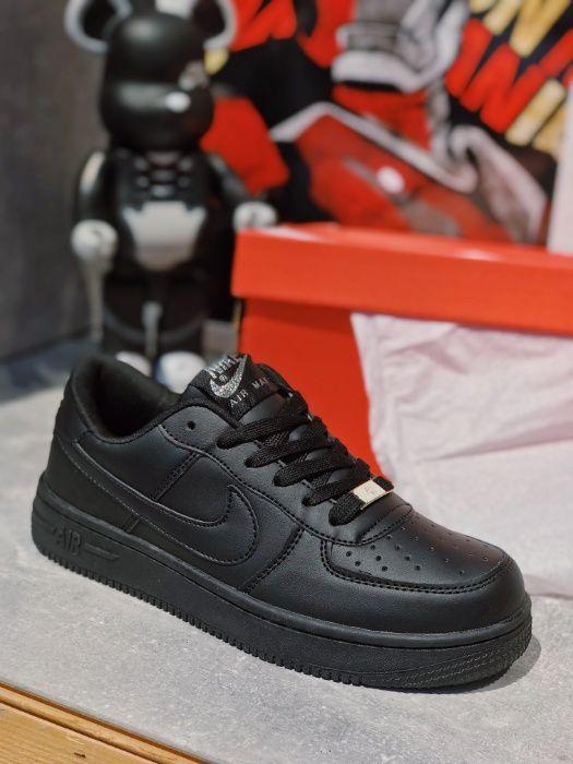 Скидка 39% Кеды Найк Аир Форс черные Nike Air Force Black
