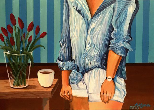 Obraz akrylowy ręcznie malowany na płycie mdf - 50x70 cm