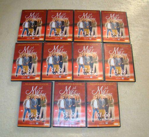 """Serial """"M jak miłość"""" na 11 płytach DVD (1-66 odcinków)"""
