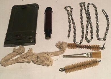 Kit limpeza Mauser K98 raro + Guarda mãos G3