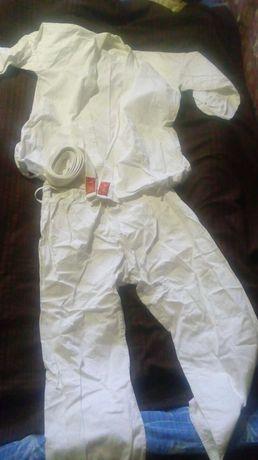 Кимоно для карате единоборств размер-6 рост-190см куртка + штаны+ пояс