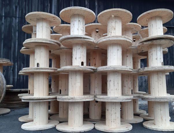 SZPULE drewniane, BEBNY po kablu, SZPULA jasna DUZE ILOSCI fi. 60-200