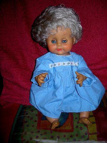 laka stara z lat 70-80 tych Misia w niebieskiej sukience