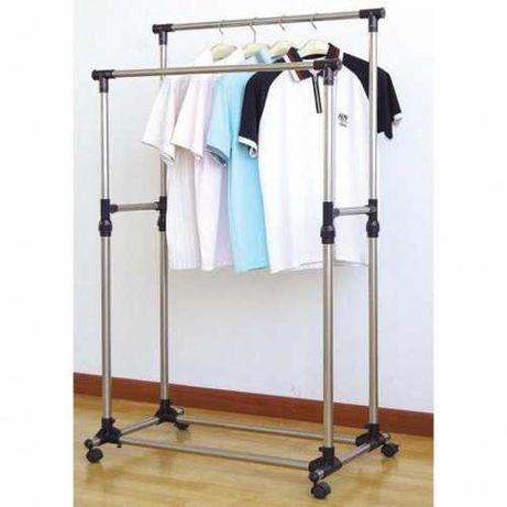 Телескопическая стойка-вешалка для одежды